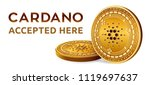 cardano. accepted sign emblem....   Shutterstock .eps vector #1119697637