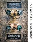 generic golden wall sprinkler... | Shutterstock . vector #1119725477