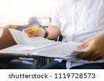 front view hand high school or... | Shutterstock . vector #1119728573