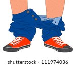 Caught with your pants down legs and feet - stock vector
