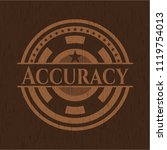 accuracy realistic wooden emblem | Shutterstock .eps vector #1119754013