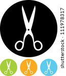 Vector icon isolated - Scissors