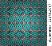 vector seamless rhombus and... | Shutterstock .eps vector #1119810767