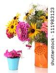 beautiful bouquet of bright... | Shutterstock . vector #111983123
