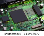 Closeup Of Electronic Circuit...