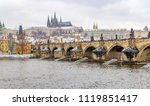 panoramic view of prague  the... | Shutterstock . vector #1119851417