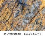 full frame abstract cracked... | Shutterstock . vector #1119851747