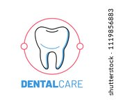 dental care logo with tooth.... | Shutterstock .eps vector #1119856883