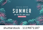 summer sale background layout... | Shutterstock .eps vector #1119871187