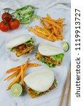delicious homemade meals  ...   Shutterstock . vector #1119913727