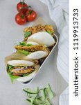 delicious homemade meals  ...   Shutterstock . vector #1119913733