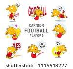goat cartoon animals do soccer ... | Shutterstock .eps vector #1119918227