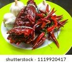 organic vegetable  hot chilli... | Shutterstock . vector #1119920417