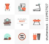 modern flat icons set of... | Shutterstock .eps vector #1119927527