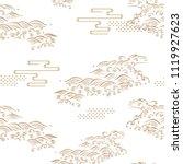 japanese pattern vector. gold... | Shutterstock .eps vector #1119927623
