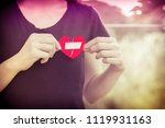 close up woman hands connecting ... | Shutterstock . vector #1119931163