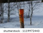 a wooden pale that serves to... | Shutterstock . vector #1119972443