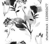 watercolor onecolor seamless... | Shutterstock . vector #1120002677