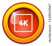 vector 4k icon ultra hd design  ... | Shutterstock .eps vector #1120014467