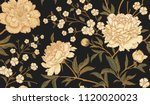 floral vintage seamless pattern ... | Shutterstock .eps vector #1120020023