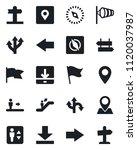 set of vector isolated black... | Shutterstock .eps vector #1120037987