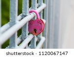 hanging pink castle on a white...   Shutterstock . vector #1120067147