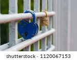 hanging blue castle on a white...   Shutterstock . vector #1120067153
