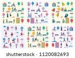 vector backgrounds in flat... | Shutterstock .eps vector #1120082693