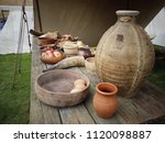 Pottery Jars  Cups And A Vikin...