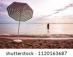 evening at lake chiemsee. beach ... | Shutterstock . vector #1120163687