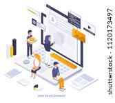 modern flat design isometric... | Shutterstock .eps vector #1120173497