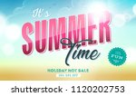 summer time template banner ... | Shutterstock .eps vector #1120202753