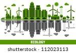 ecology versus pollution vector ... | Shutterstock .eps vector #112023113