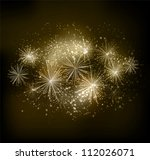 Vector fireworks background - stock vector