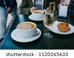 a person is going to eat... | Shutterstock . vector #1120265633