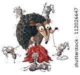 fight between a cartoon ant...   Shutterstock .eps vector #112026647