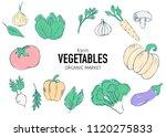 farm vegetables vector poster.... | Shutterstock .eps vector #1120275833