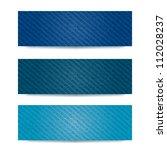 blue denim banner set. vector... | Shutterstock .eps vector #112028237