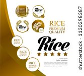great grand gold rice vector... | Shutterstock .eps vector #1120298387