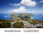 Cape Formentor in the coast of Mallorca - stock photo