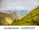 view from summit of snowdon... | Shutterstock . vector #112035137