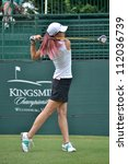 WILLIAMSBURG, VIRGINIA-SEPTEMBER 4: Michelle Wie at the LPGA Kingsmill Championship Golf Tournament on September 4, 2012 in Williamsburg, Virginia - stock photo