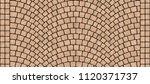 cobblestone arched pavement... | Shutterstock . vector #1120371737