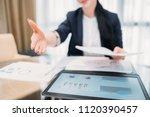 job hiring. new professional... | Shutterstock . vector #1120390457