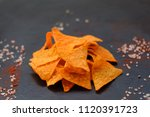 tortilla nacho chips. delicious ... | Shutterstock . vector #1120391723