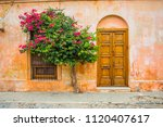 old rustic vintage exterior...   Shutterstock . vector #1120407617