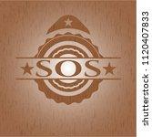sos wood emblem | Shutterstock .eps vector #1120407833