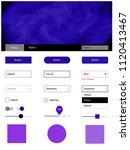 light purple  pink vector ui...