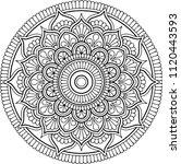 figure mandala for coloring... | Shutterstock .eps vector #1120443593