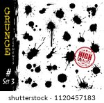 set of grunge style blood or... | Shutterstock .eps vector #1120457183